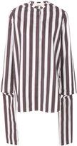 Ports 1961 draped striped blouse