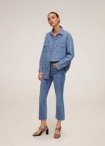 MANGO High waist flared jeans
