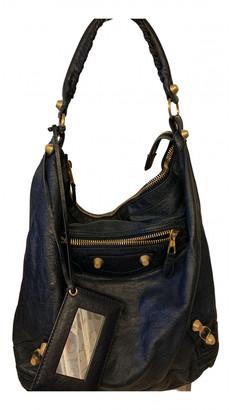 Balenciaga Day Navy Leather Handbags