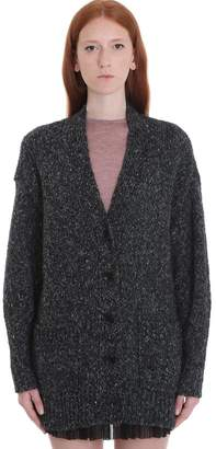 Etoile Isabel Marant Scott Cardigan In Grey Wool