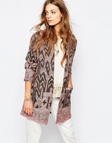 Maison Scotch Printed Cocoon Coat