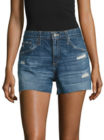 AG Adriano Goldschmied Mid Rise Cropped Denim Short
