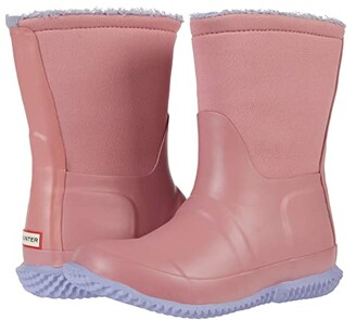 Hunter Original Sherpa Boots (Little Kid/Big Kid) (Hibiscus Pink/Pulpit Purple) Girls Shoes
