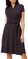 Hobbs April Spotted Wrap Dress, Navy/Blossom Pink