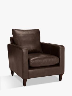 John Lewis & Partners Bailey Leather Armchair, Dark Leg
