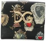 Dolce & Gabbana crest print fold out purse