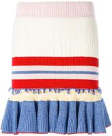 Alexander McQueen peplum mini skirt - women - Silk/Polyamide/Spandex/Elastane/Wool - S