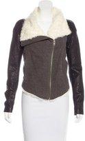 Helmut Lang Shearling & Leather-Trimmed Jacket