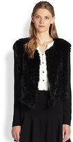 Joie Dreya Rabbit Fur Combo Jacket