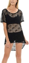 Magic Fit Black Sheer Lace Scoop Neck Tunic