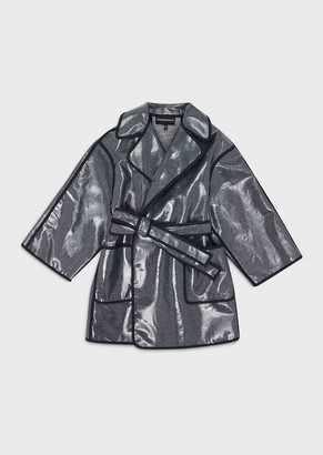 Emporio Armani Waxed Denim Raincoat