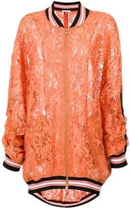 Martha Medeiros Heidi lace bomber jacket