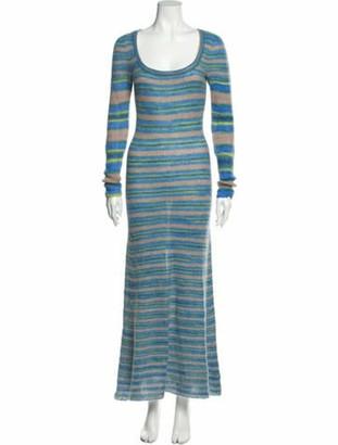 Jacquemus Striped Long Dress Black