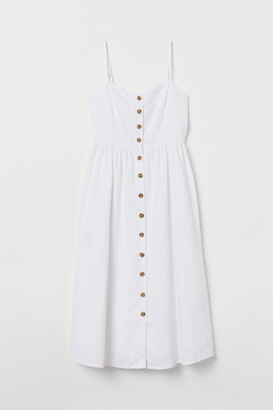 H&M Linen-blend Dress - White