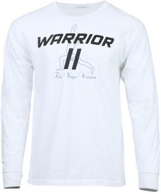 Ensemble white yoga warrior logo t-shirt