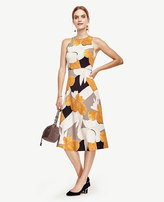 Ann Taylor Mixed Floral Fit and Flare Dress