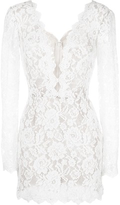 Tadashi Shoji lace-embroidered dress