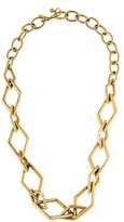 Kenneth Jay Lane Diamond Shape Link Necklace