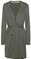 Eberjey Francine Lace-Trimmed Jersey Robe