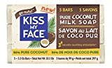 Kiss My Face Pure Coconut Milk Soap Bar with Coconut Oil, 3.5 oz, 3 Count, 10.5 oz Total, 3 Pack