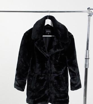 Brave Soul Petite tasmin faux fur coat