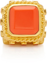 Valére VALERE Poseidon Gold-Plated And Coral Ring