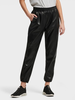 DKNY Faux Leather Jogger