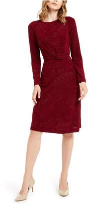 Alfani Tonal Twist-Waist Dress