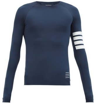 Thom Browne Four-bar Technical-jersey Compression T-shirt - Navy