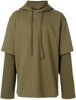 Juun.J layered hoodie