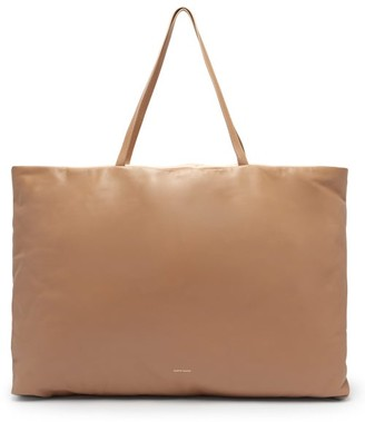 Mansur Gavriel Pillow Reversible Leather Tote Bag - Beige Multi
