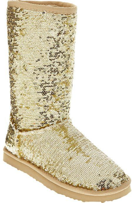 Old Navy Girls Sequined Faux Fur-Lined Boots