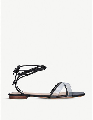 Aldo Candid lace-up faux-leather and perspex sandals