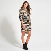Apricot Multi-Coloured Geometric Print Shirt Dress