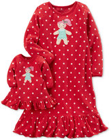 Carter's 2-Pc. Gingerbread Nightgown and Doll Nightgown Set, Little Girls (4-6X) and Big Girls (7-16)