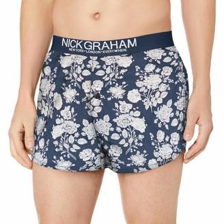 Nick Graham Men's Slim Fit Cotton Woven Boxer