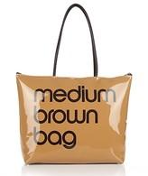 Bloomingdale's Zip Top Medium Brown Bag - 100% Exclusive