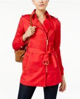 MICHAEL Michael Kors Zip-Front Trench Coat