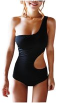 CA Mode CA Fashion Sexy Women's One Shoulder Monokini Swimwear Side Cut-out Swimsuit