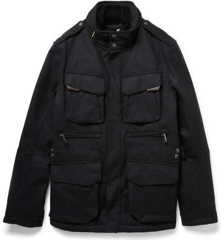 Ralph Lauren Black Label Mandator Padded And Layered Wool-Blend Jacket