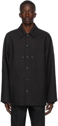 Jil Sander Black Pique Structured Jacket