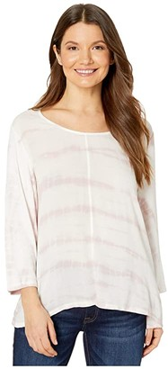 Tribal Woven Front Top (Porcelain) Women's Clothing