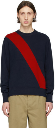 Rag & Bone Navy Silk Rex Sweater