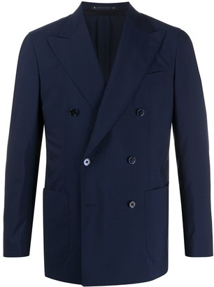 Bagnoli Sartoria Napoli Double-Breasted Formal Blazer