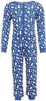 John Lewis Children's Floral Mouse Print Onesie, Navy