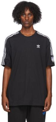 adidas Black and White 3D Trefoil 3-Stripes T-Shirt