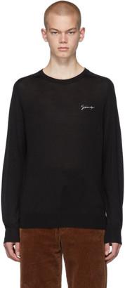 Givenchy Black Silk Signature Logo T-Shirt