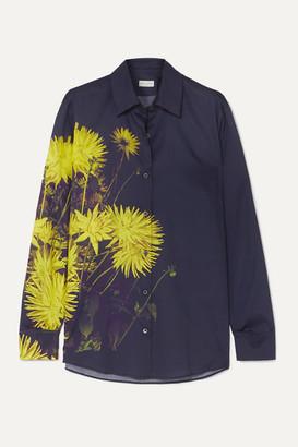 Dries Van Noten Clavelly Floral-print Cotton-poplin Shirt - Dark gray