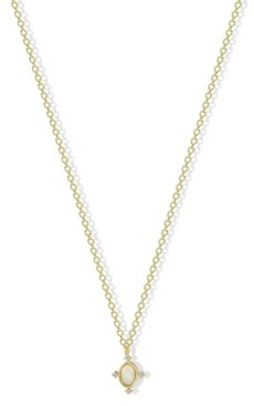 Argentovivo Synthetic Opal Pendant Necklace in 18k Yellow Gold over Sterling Silver
