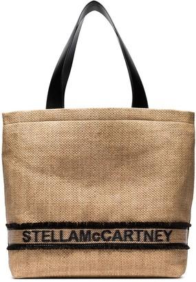 Stella McCartney woven logo tote bag